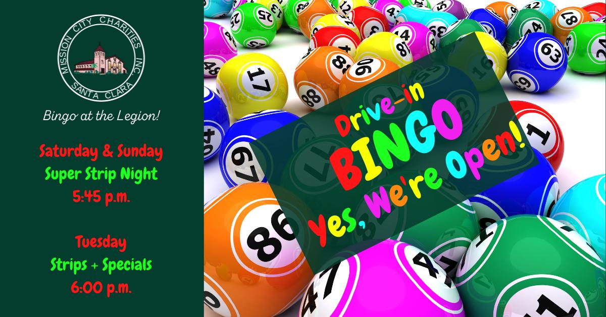 Drive-in Bingo! Yes, we're open!