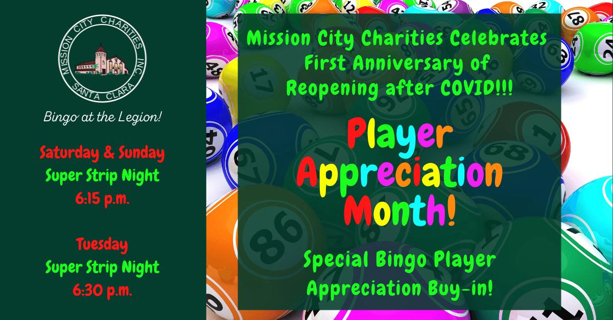 Bingo Player Appreciation Month